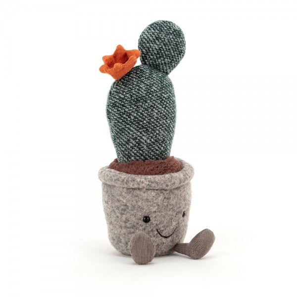 Silly Succulent Prickly Pear Cactus, 24cm