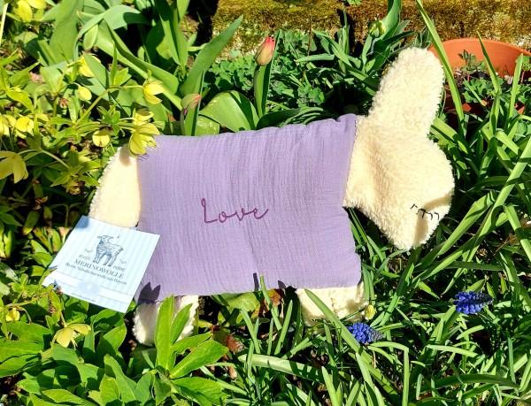 """Kuschelschaf """"Love"""", lila"""