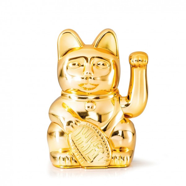 Lucky Cat, Glossy Gold