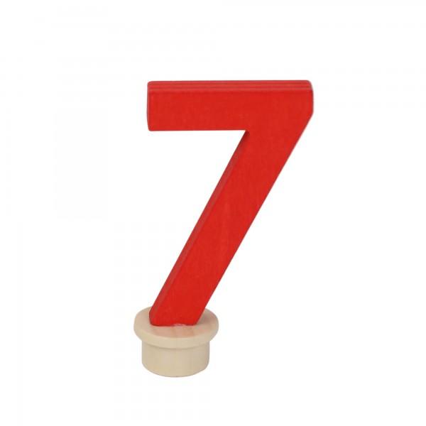 "Geburtstagszahl ""7"" aus Holz"