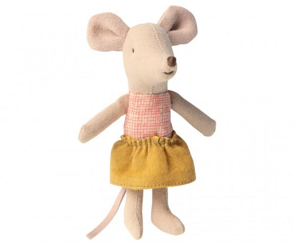 Kleine Schwester Maus in der Schachtel