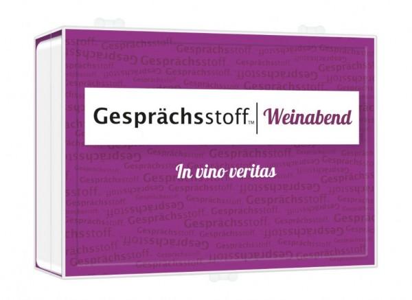 GESPRÄCHSSTOFF – Weinabend