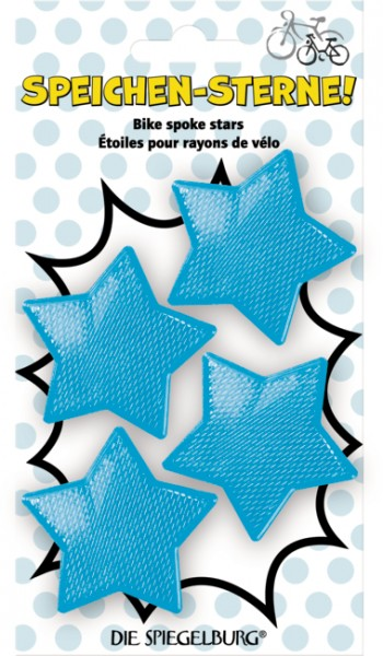 blaue Speichen - Sterne ( 4 Stück im Set )