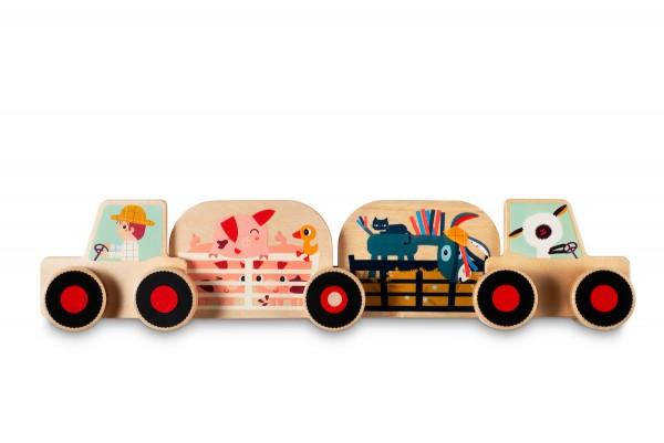 Holz - Traktor Bauset