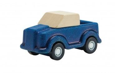 Blauer Truck aus Naturholz