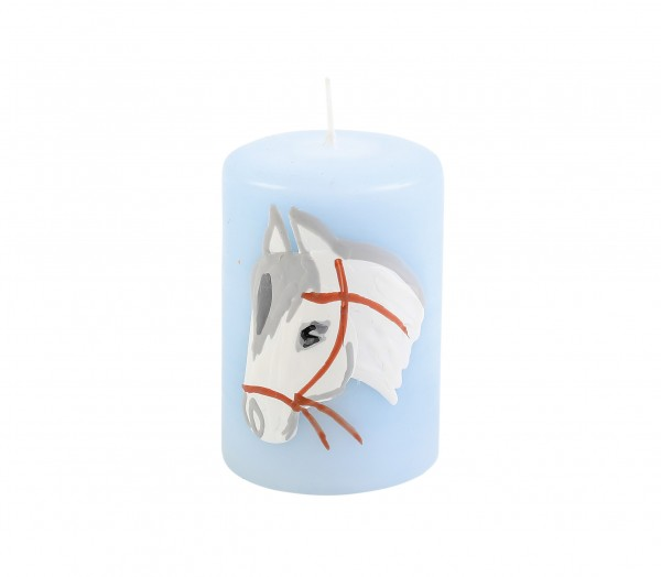 "Motiv-Lebenslicht ""Pferd Blau"""