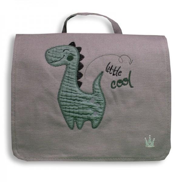 Kindergartenrucksack mit Dino, grau