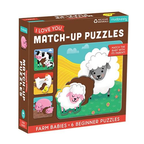 Match-up Puzzle Bauernhofbabies