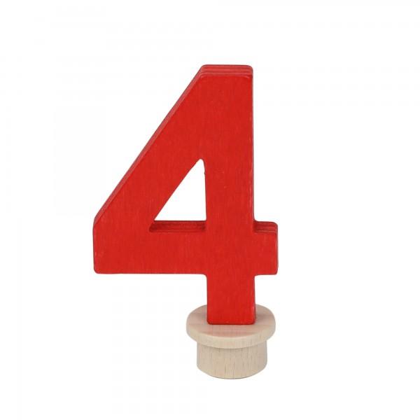 "Geburtstagszahl ""4"" aus Holz"