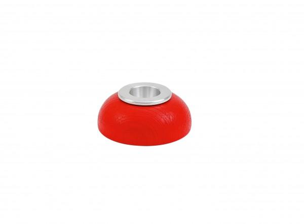 Kerzenhalter Alu-Einsatz rot
