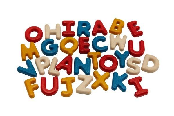 Holzbuchstaben-Alphabet (Großbuchstaben) aus Holz