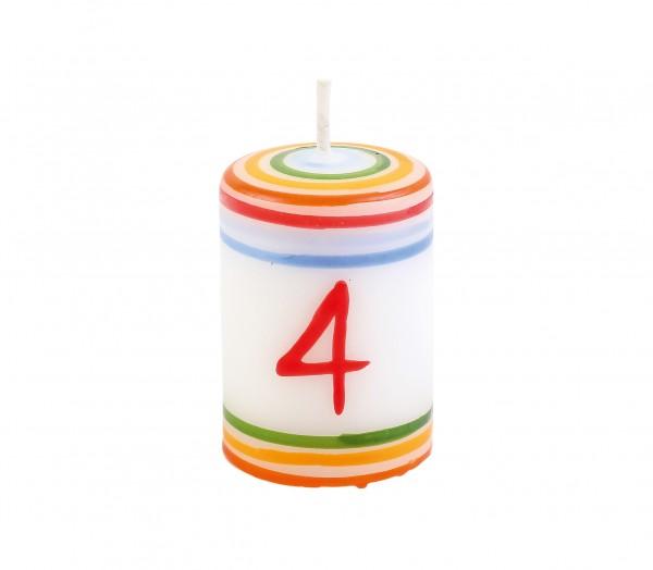 """Zahlen-Lebenslicht """"4"""""""