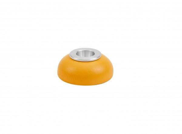 Kerzenhalter Alu-Einsatz gelb