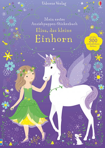 Mein erstes Anziehpuppen-Stickerbuch Elisa, das kleine Einhorn