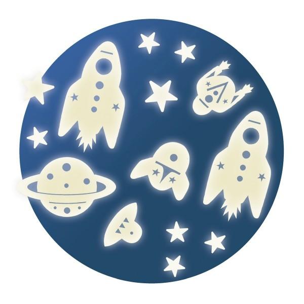 """Glow-in-the-Dark-Sticker """"Mission Weltraum"""