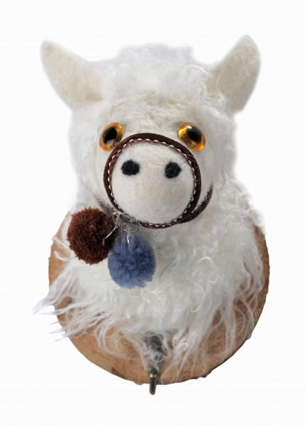 Kleiderhaken Schaf mit Halfter