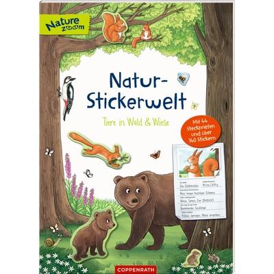 Natur-Stickerwelt: Tiere in Wald & Wiese