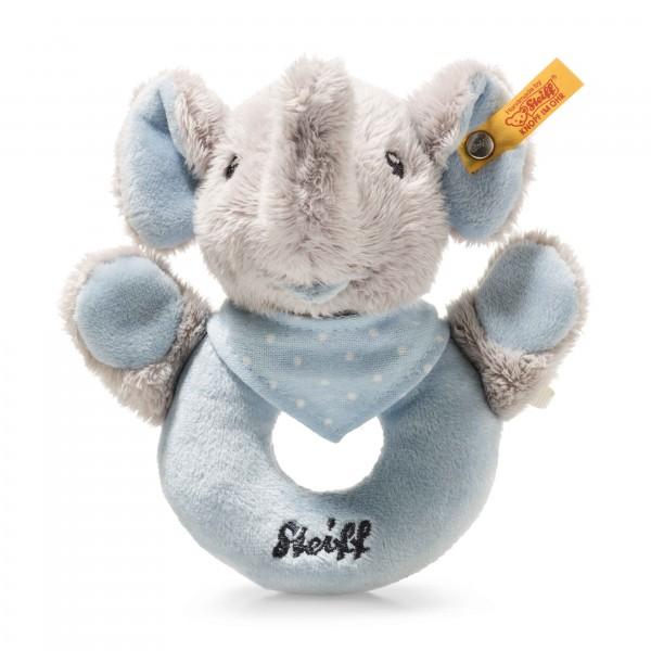 Trampili Elefant Greifring mit Rassel grau/blau
