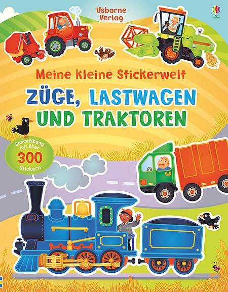 Meine kleine Stickerwelt Züge, Lastwagen und Traktoren