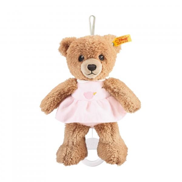 Schlaf gut Bär Spieluhr 20 cm rosa
