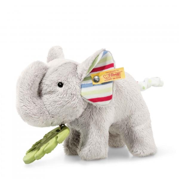 Timmi Elefant mit Beißring 17 cm grau