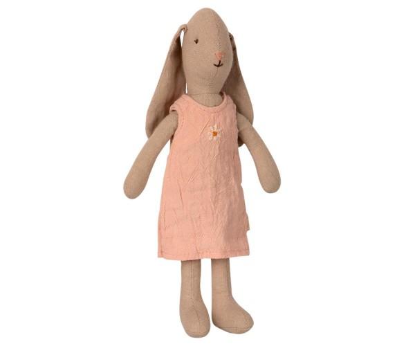 Mädchenhase im rosa Kleid, 22cm