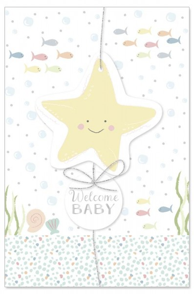 Karte Baby Seestern Spruch Welcome Baby