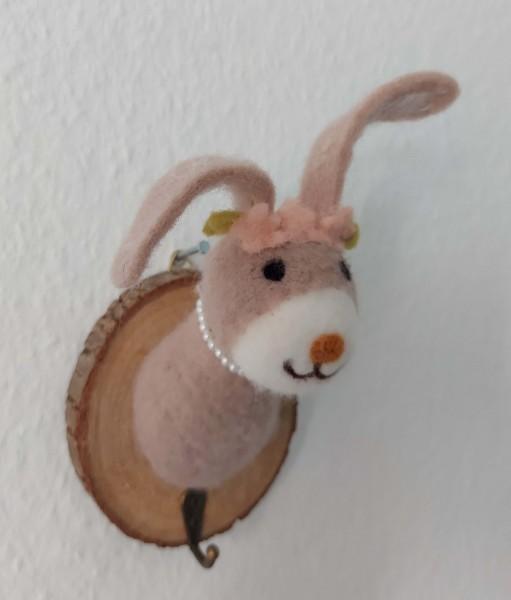Kleiderhaken Hase mit Blümchen