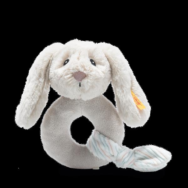 Soft Cuddly Friends Hoppie Hase Greifling mit Rassel, 14 cm