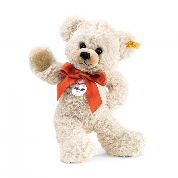 Lilly Schlenker Teddybär mit Schleife 28 cm creme