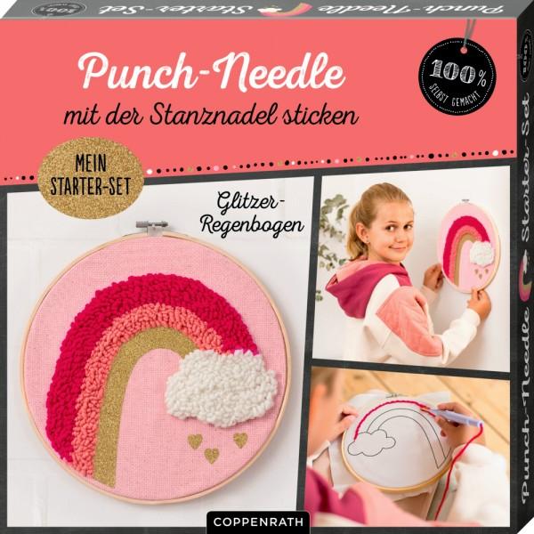 "Punch - Needle Starter - Set ""Glitzer - Regenbogen"""