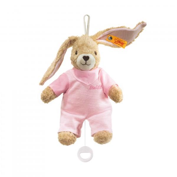 Hoppel Hase Spieluhr rosa