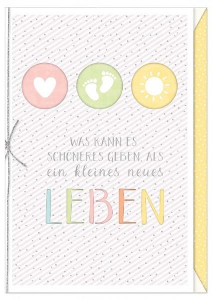 Karte Baby Herz Füßchen Sonne